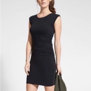 Athleta Sleeveless Ruched Carefree Tee Dress